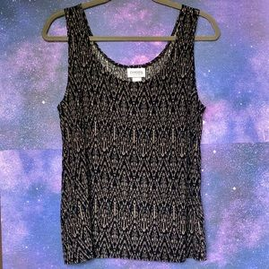 **CHICOS Traveler's Tribal Print Tank Top. Size 2